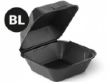 Короб для гамбургера 150х160х80мм черный ВПС