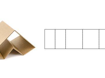 Угловой амортизатор, трубчатый - равнобедренный треугольник в сечении