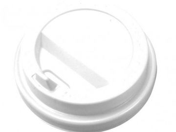 Крышка белая для бумажного стакана 250мл, d= 80мм