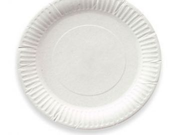 Тарелка бумажная неламинированная d=175мм