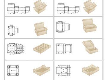 Готовые, собранные в основном из одной детали складные гофрокороба. Тип 07