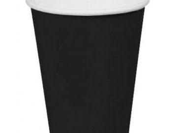 Стакан бумажный однослойный чёрный 400 мл