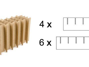 Решетка вертикальная из десяти заготовок