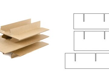 Дополнительный элемент, решетка из вертикальных перегородок  разной высоты