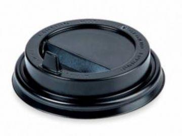Крышка черная для бумажного стакана 250мл, d= 80мм