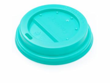 Крышка бирюзовая для бумажного стакана 250мл, d= 80мм