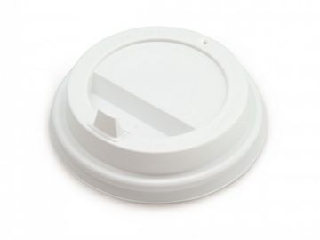 Крышка белая для бумажного стакана d=73мм